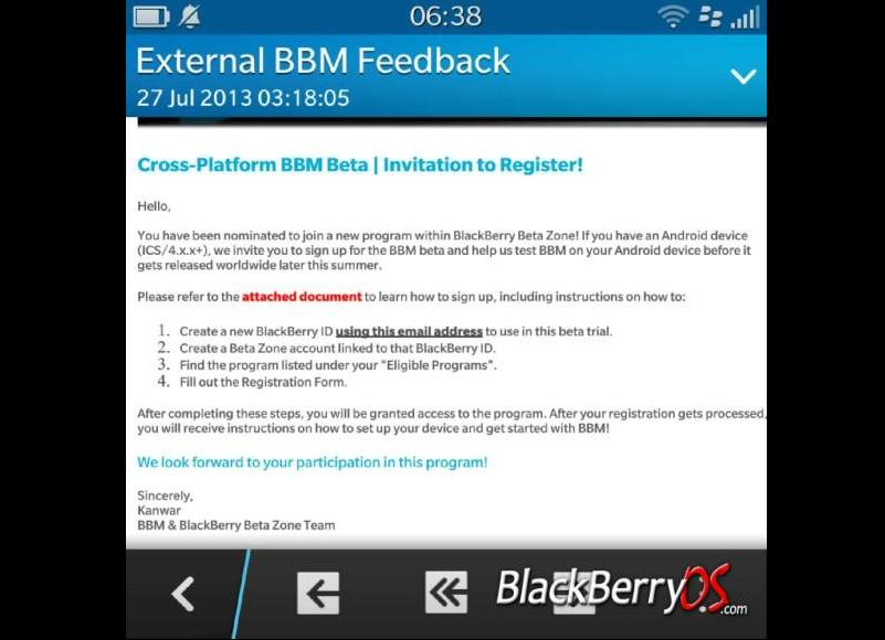 BlackBerry Starts BBM beta Testing for Android/iOS | Tech My Money