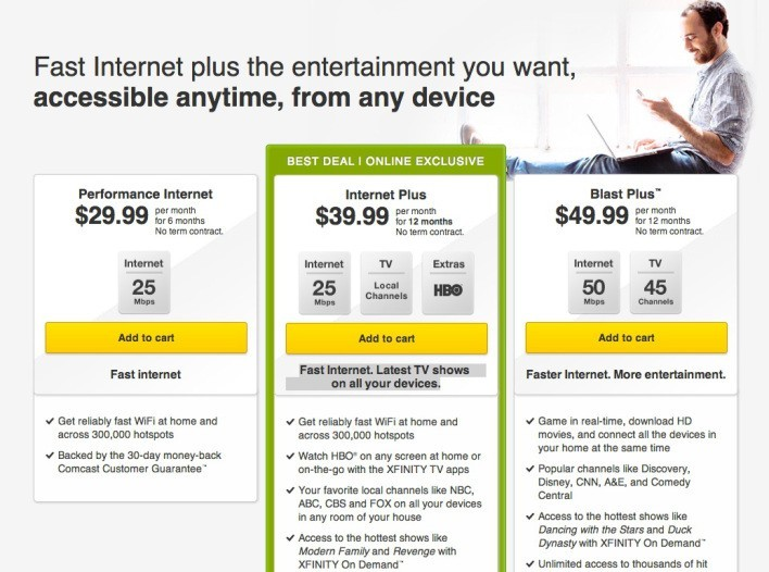 Comcast Internet Deals >> Comcast Offers Hbo Local Tv And Internet For 40 Tech My Money