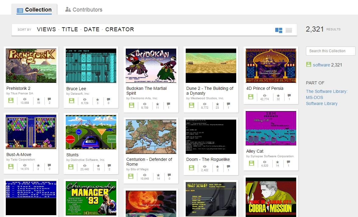 Dos Games Browser