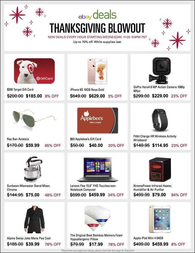 eBay Thanksgiving