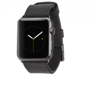 Signature Leather Band - Black Apple Watch